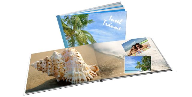 Fotobuch mit Bildern aus den Strandferien