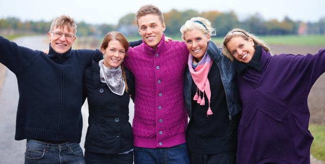 Gruppenbild einer Familie